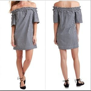 Vineyard Vines NWT Gingham Off Shoulder In Frost